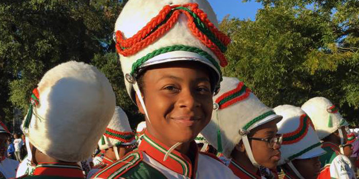 Cori Bostic is Florida A&M's First Female Drum Major of the Marching 100