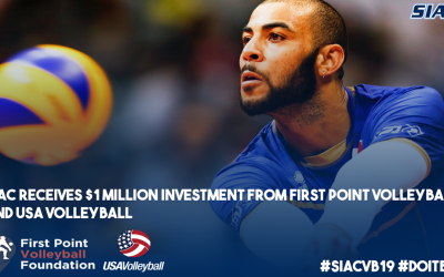 FIRST POINT VOLLEYBALL FOUNDATION AND USA VOLLEYBALL MAKES A $1 MILLION INVESTMENT TO SIAC MEMBER INSTITUTIONS